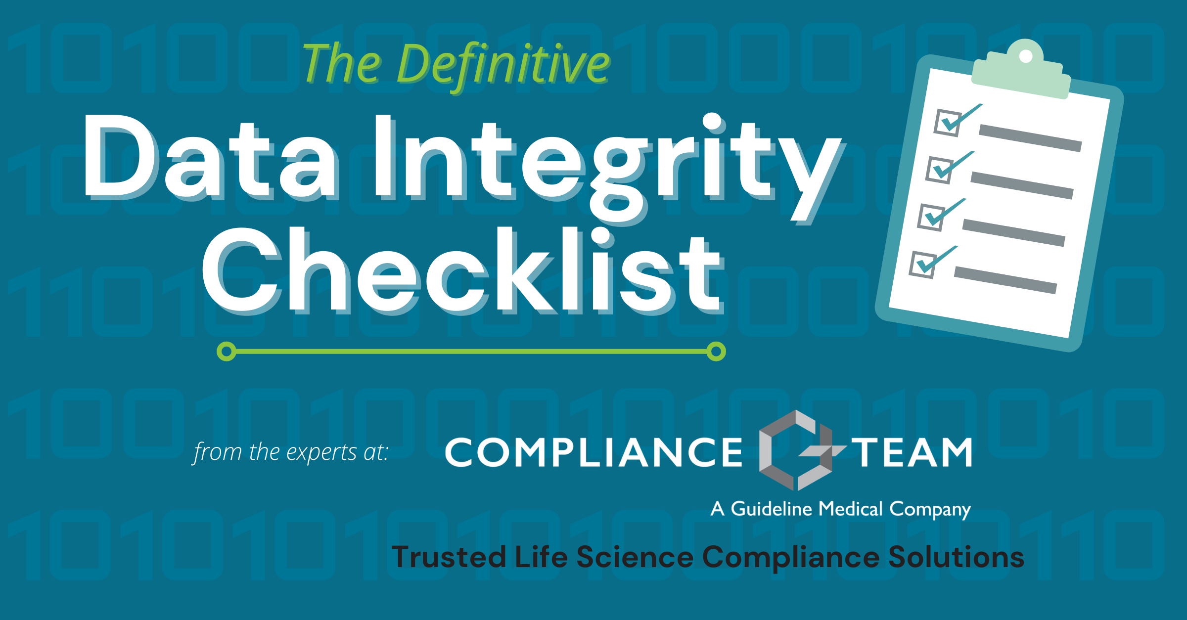Data Integrity Checklist